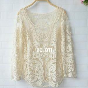 5de74557861 ... T001 Sheer Lace Tunic Tank Top Crochet Blouse Ivory Lace. XCLOTH Women  Lace Floral Tops Blous.. XCLOTH Women Lace Floral Tops Blous.